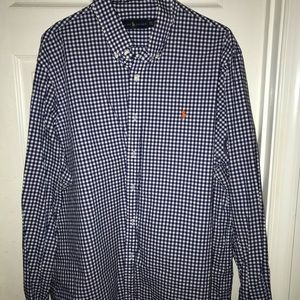 Button down polo dress shirt